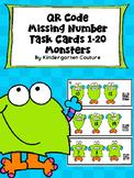 QR Code Missing Numbers 1-20 Monsters