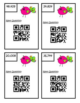 QR Code Multiplication 1 x 4 Digit Scavenger Hunt 4.NBT.5