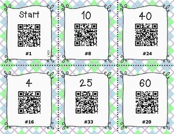 QR Code Multiplication Task Cards
