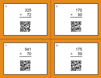 QR Code Multiplication Task Cards Bundle