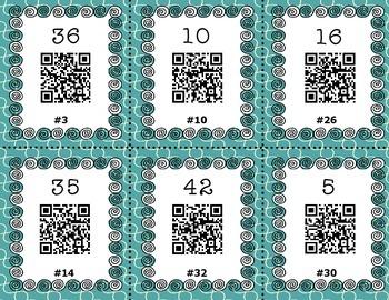 QR Code Multiplication Task Cards - Set 2