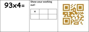 QR Code Multiplication Using Grid Method Differentiated