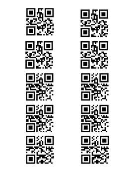 QR Code Multiplication Word Problem Task Cards