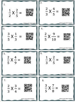 QR Code Multiplication of Fractions