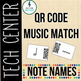 QR Code Music Match - Note Names, Rhythm and Glues