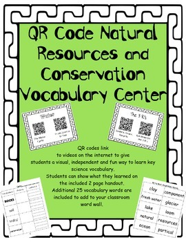 QR Code Natural Resources and Conservation Vocabulary Center