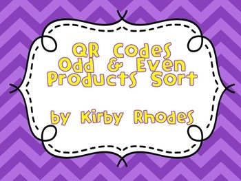QR Code Odd & Even Products Sort with Quick Check Assessment