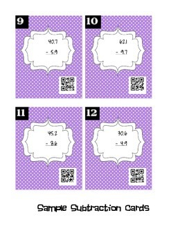 QR Code Operations with Decimals BUNDLE - Save 25%!!