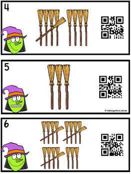 QR Code (Optional) Counting Tally Marks 1-20 Broomsticks