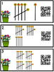 QR Code (Optional) Tally Mark Task Cards 1-20 -Garden