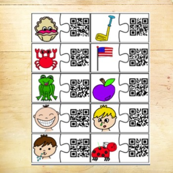 Phonics Puzzles with QR Codes