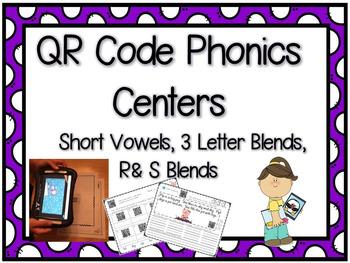 QR Code Phonics Short Vowels
