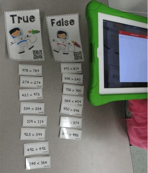Place Value Centers with QR Codes