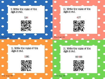 QR Code Place Value Task Cards