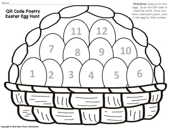 FREE! Poetry Easter Egg Hunt with QR Codes!