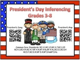 QR Code President's Day Inferencing Grades 3-8 (Common core aligned)