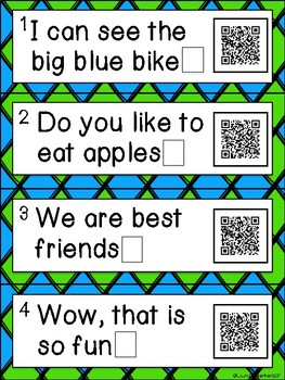QR Code Punctuation Activity Task Cards