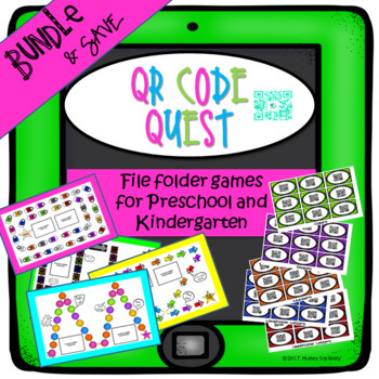 File Folder Games for Early Learning-QR Code Quest