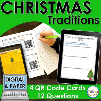 Christmas Traditions QR Code Activity