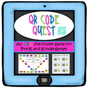 An ABC file folder game-QR Code Quest