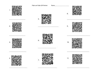 QR Code Rates and Ratio Review