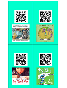 QR Code Read Aloud Listening Center Stories with words- 40 Popular Books