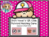 QR Code Read and Find Treasure Hunt CVC Words