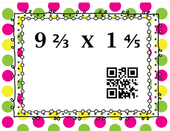 QR Code Reader Mixed Number operations