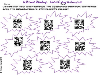 QR Code Reading Antonyms
