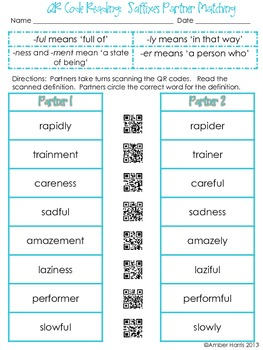 QR Code Reading Suffixes