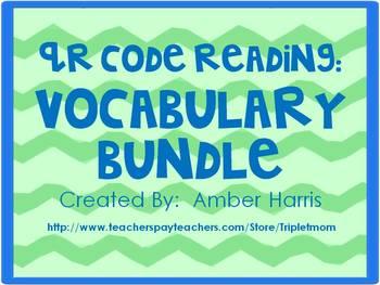 QR Code Reading:  Vocabulary Bundle