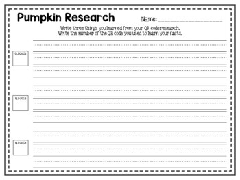 QR Code Research: Pumpkins