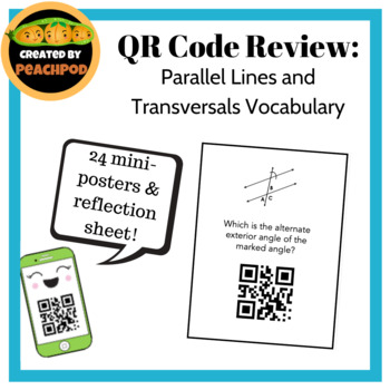 QR Code Review: Parallel Lines & Transversals Vocabulary