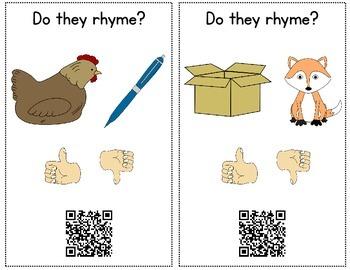 QR Code Rhyming {A Rhyming Activity}
