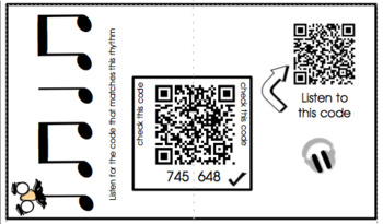 QR Code Rhythm Match Listening Activity