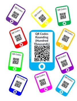 QR Codes - Rounding Task Cards Hundred Thousands Place