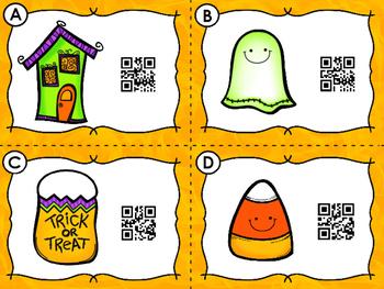 QR Code Scan, Write, Color 1-10 Halloween