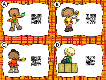 QR Code Scan, Write, Color Numbers 1-10 Fall