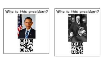 QR Code Scan and Write President's Day