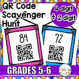 QR Code Scavenger Hunt: Division (4 digit by 2 digit)