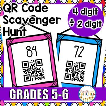 QR Code Scavenger Hunt: 4-Digit divided by 2-Digit