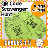 QR Code Scavenger Hunt: Multiplication (4 digit x 1 digit)