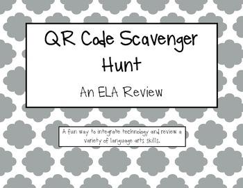 QR Code Scavenger Hunt: A ELA Review