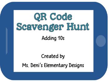QR Code Scavenger Hunt - Adding 10's