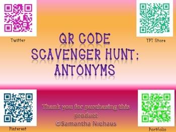 QR Code Scavenger Hunt: Antonyms