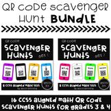 QR Code Scavenger Hunt BUNDLE {16 CC Aligned Math Sets for Grades 3 & 4}