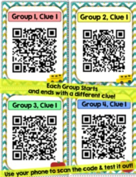 QR Code Scavenger Hunt {Back to School}