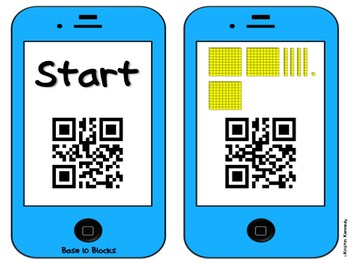 QR Code Scavenger Hunt: Base 10 Blocks FREEBIE