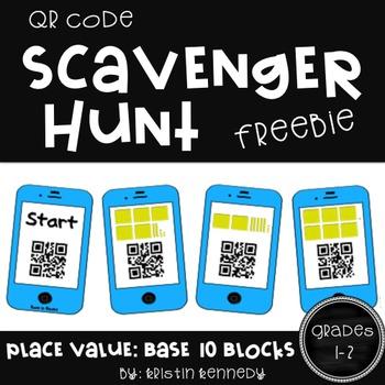 QR Code Scavenger Hunt: Base 10 Blocks FREEBIE