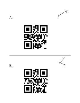 QR Code Scavenger Hunt - Basic Geometry Vocab